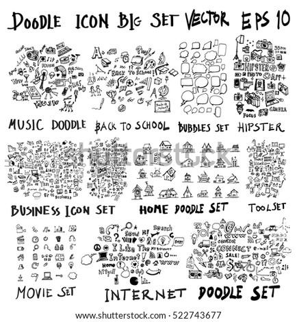 mega set of doodles super