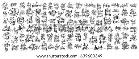mega set of 100 hand written