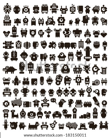 mega set of small monsters and