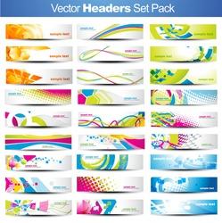 Mega set of vector Headers