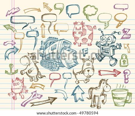 Mega Sketch Doodle Vector Set