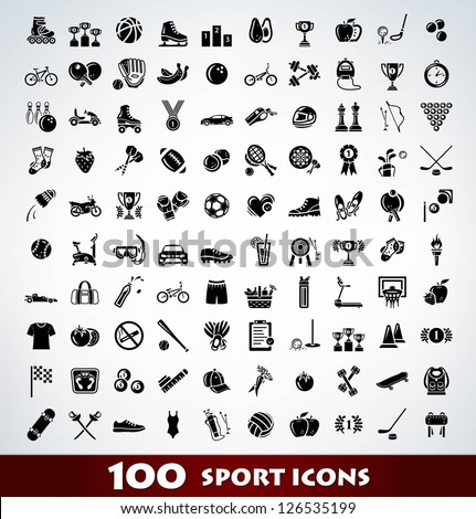mega sport icon set