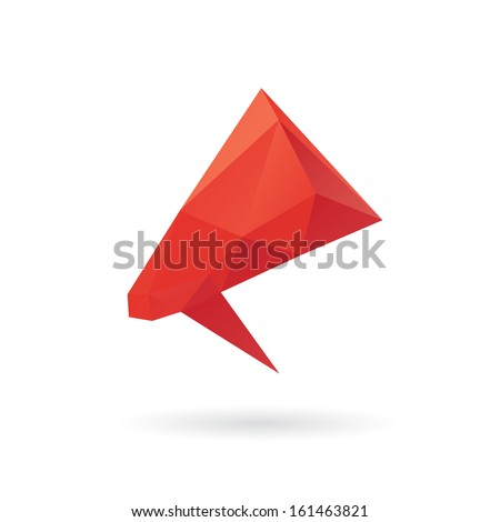 Megaphone abstract isolated on white background, vector illustration