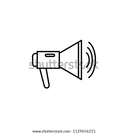 megaphone icon. Element of journalist for mobile concept and web apps illustration. Illustration for website design and development, app development