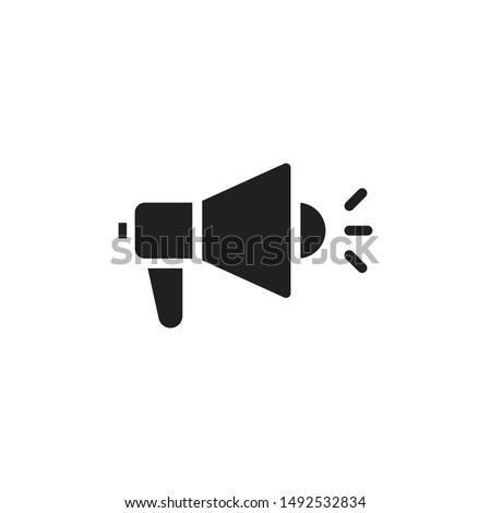Megaphone icon. Megaphone Single Icon Graphic Design. Loudspeaker sign flat design style. Promotion Related symbol Isolated on White Background  - Vector illustration.  Foto stock ©