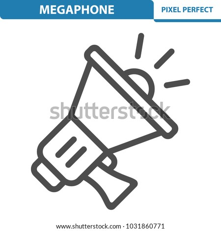 Megaphone Icon. Professional, pixel perfect icons optimized for both large and small resolutions. EPS 8 format. 12x size for preview.