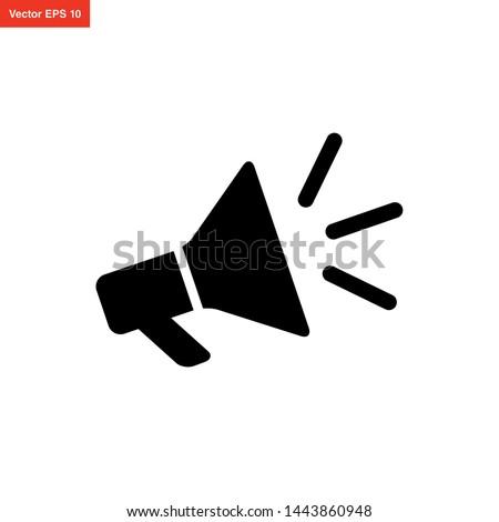 megaphone icon vector design template