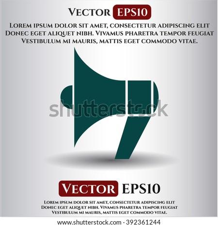 Megaphone icon vector illustration