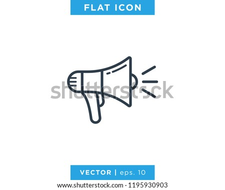 Megaphone Icon Vector Logo Design Template. Photo stock ©
