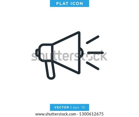 Megaphone Icon Vector Logo Design Template.