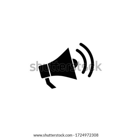 megaphone icon with bubble speech icon Foto stock ©