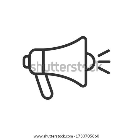 Megaphone line icon. Vector Illustration. Photo stock ©