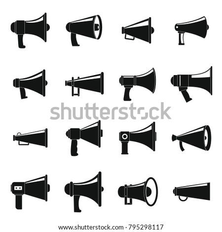 megaphone loud speaker icons