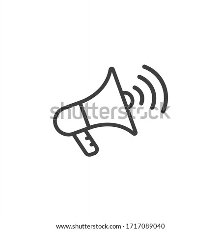 megaphone with sound or ma...n for apps and website Stock fotó ©