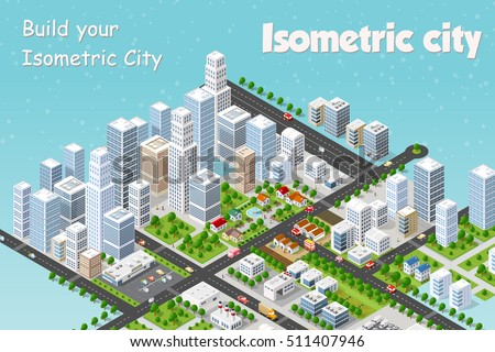 megapolis 3d isometric three
