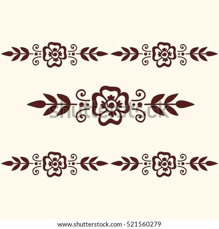 Mehendi pattern illustration #521560279
