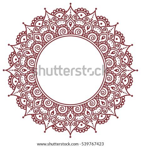 Royalty Free Mehndi Indian Henna Tattoo Round 277600472 Stock