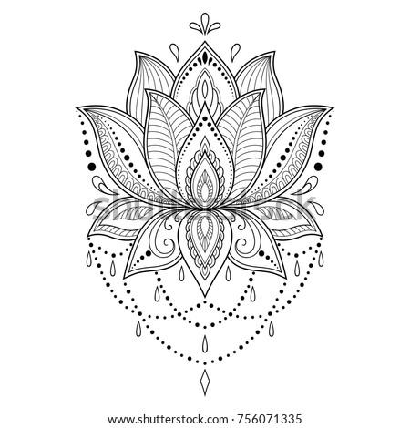 royalty free lotus mandala vector ornamental lotus 394181386