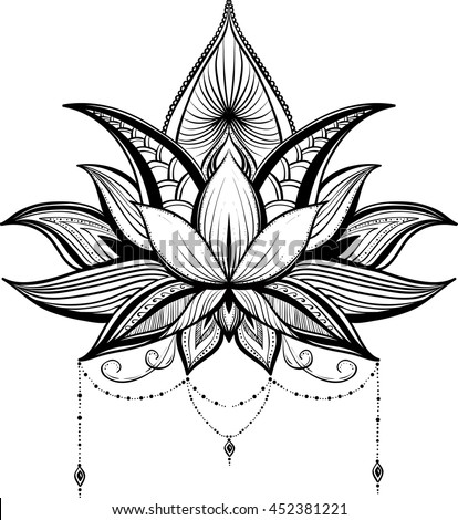 Vector images illustrations and cliparts mehndi lotus flower mehndi lotus flower vector mightylinksfo
