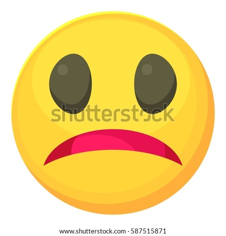 melancholy smiley icon cartoon