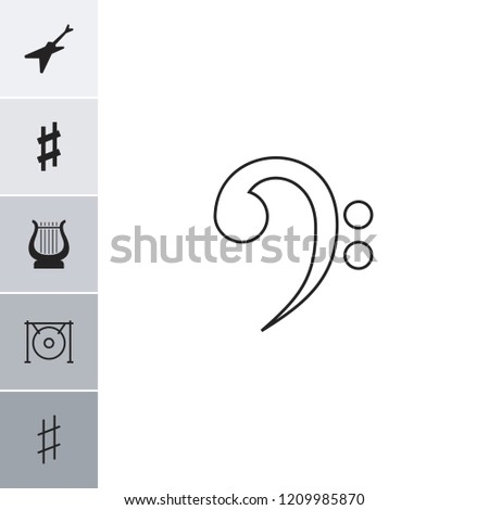 Melody icon. collection of 6 melody filled and outline icons such as gong, musical sharp, guitar, harp. editable melody icons for web and mobile.