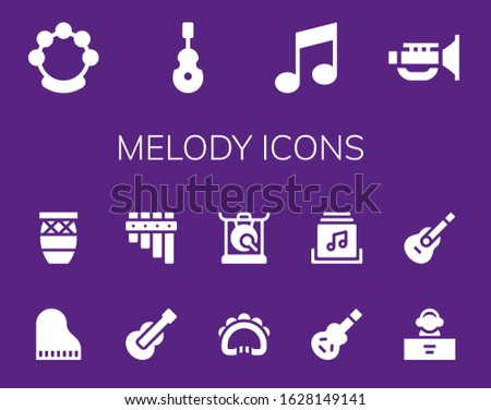melody icon set 14 filled