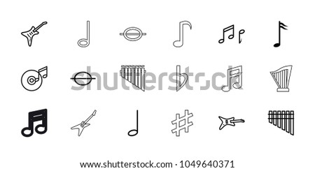 melody icons set of 18