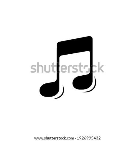 Melody silhouette vector button alert Stock photo ©