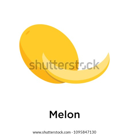Melon icon isolated on white background for your web and mobile app design, Melon vector pixel perfect icon