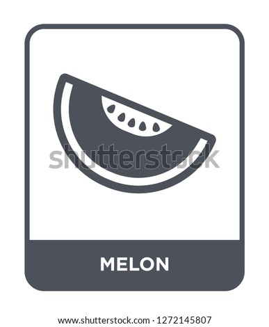 melon icon vector on white background, melon trendy filled icons from Fruits and vegetables collection, melon simple element illustration