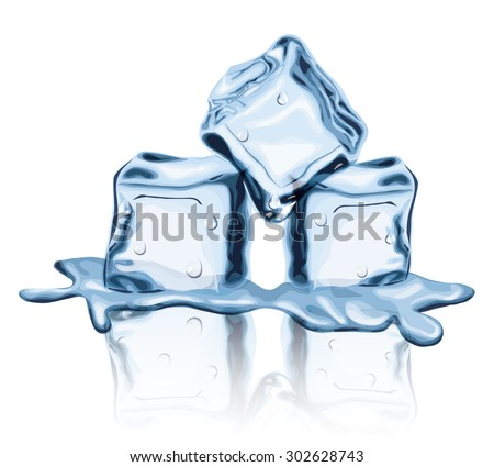 melted ice cubes