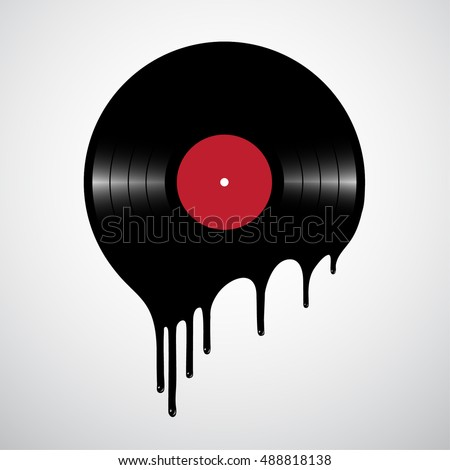 melted or hot vinyl record disc....
