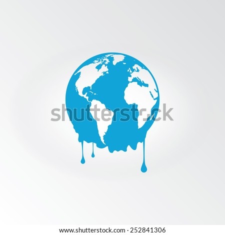 melting earth   global warming