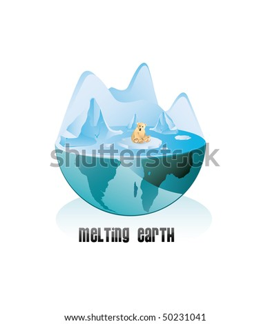 melting pole vector