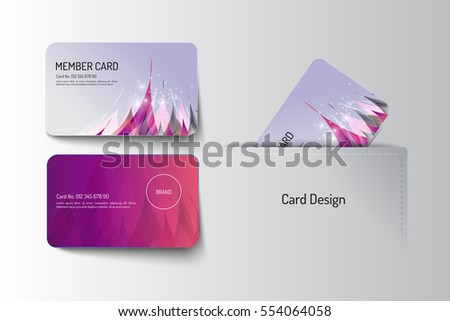Member and business card template design. Vector illustration Stock photo ©