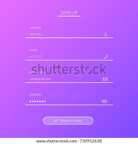 Member login flat design. eps10.