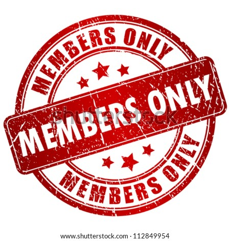 Members only vector stamp Stock photo ©
