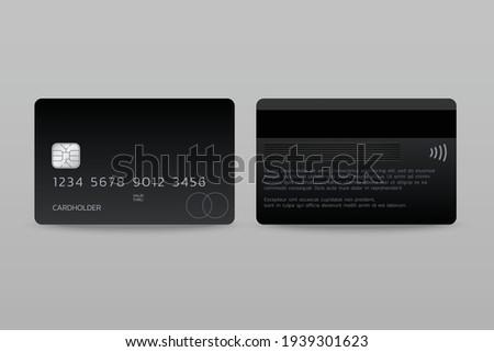 membership card template Presentation, front and back design, vector illustration Foto stock ©