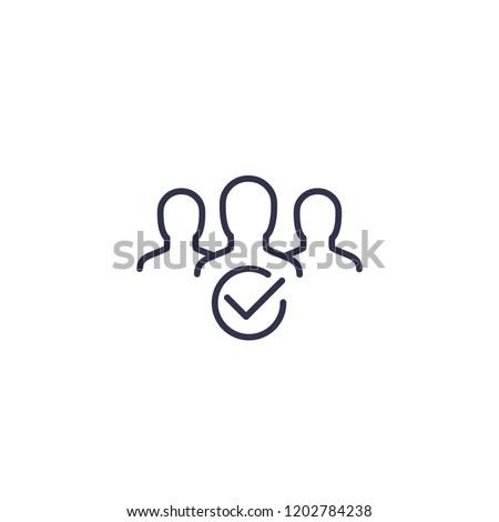 membership line icon on white Stock photo ©