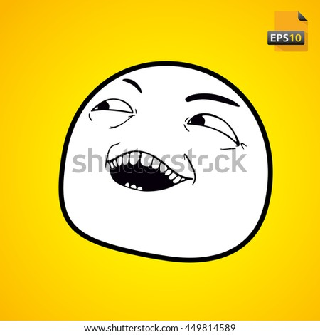 meme emotion face on yellow