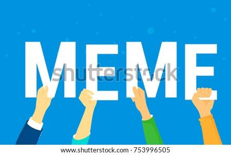 meme letters concept vector