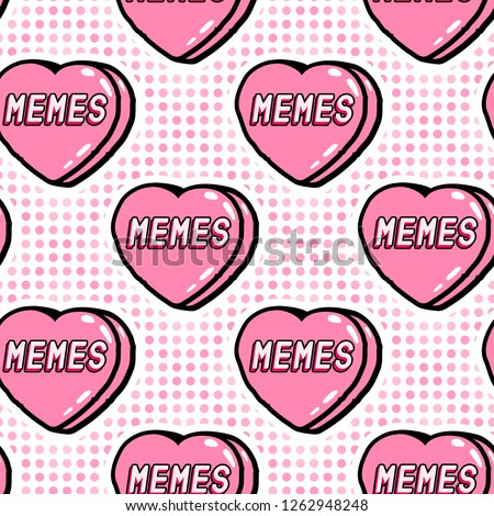 memes seamless pattern funny