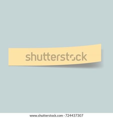 Memo stick bookmark concept background. Realistic illustration of memo stick bookmark vector concept background for web design