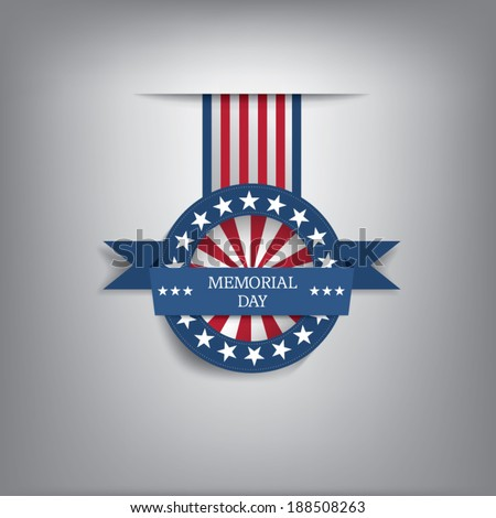 Memorial day badge eps10 vector illustration for posters flyers decoration etc