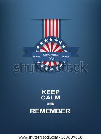 Memorial day badge eps10 vector illustration for posters, flyers, decoration etc.