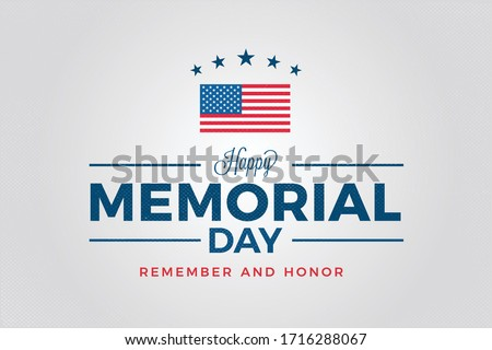 Memorial Day Card, Background, Happy Memorial Day Banner, poster card, Vector Illustration.