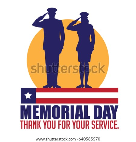 memorial day design with