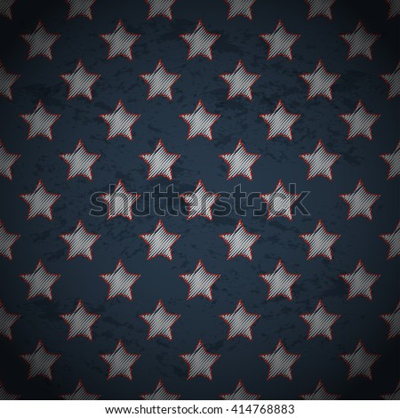 Memorial day design with stars. Vector illustration.
