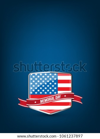 memorial day greeting card with