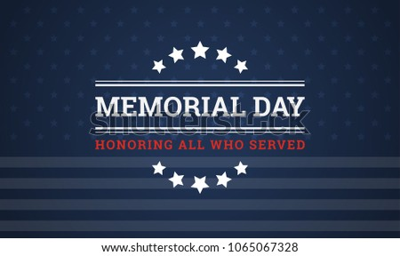 Memorial Day holiday vector background Stock photo ©